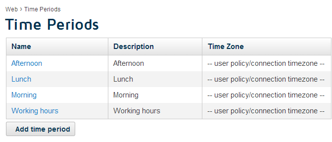 Company s requirements for example click the working hours period