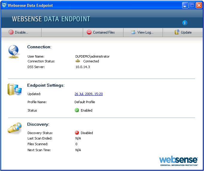Installation du client websense endpoint