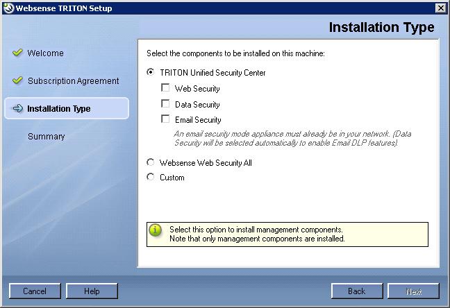 Creating a TRITON Management Server