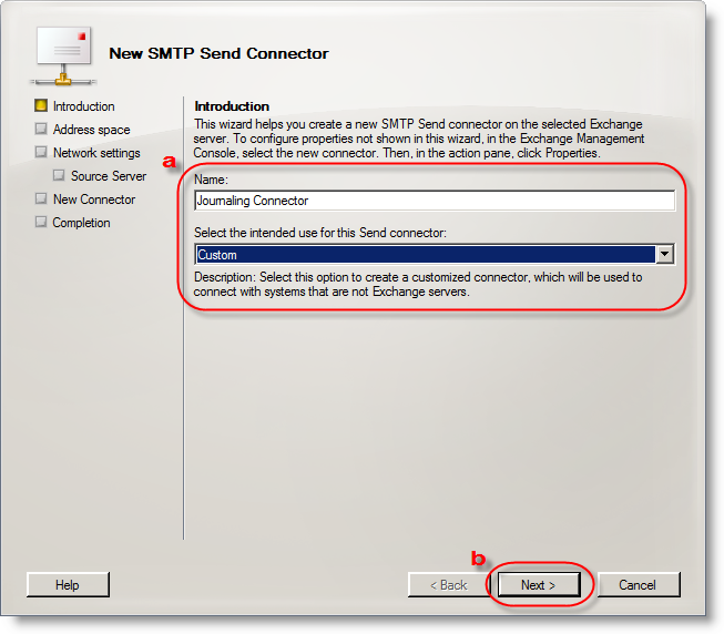 Create an SMTP send connector