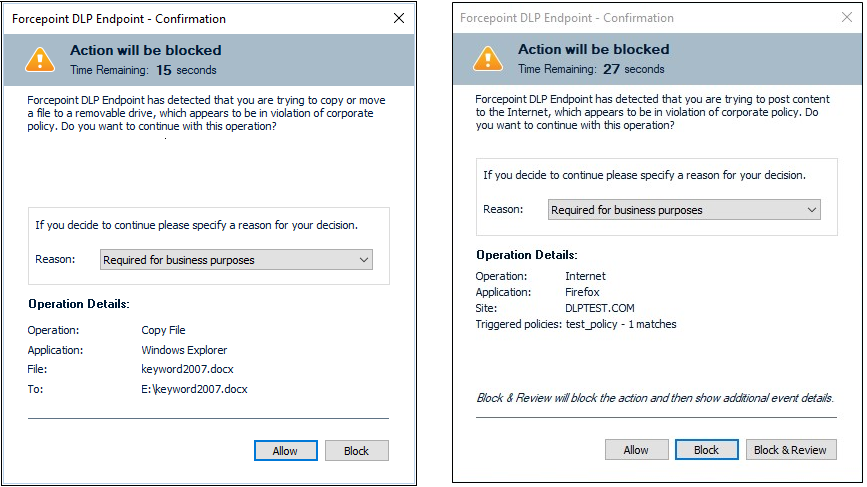 How to allow or block a policy violation