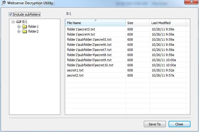 Decrypting files on a removable media device
