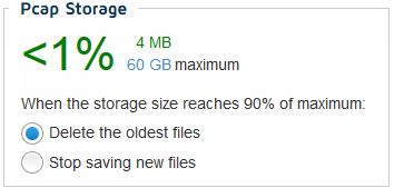 Configuring RiskVision local storage settings