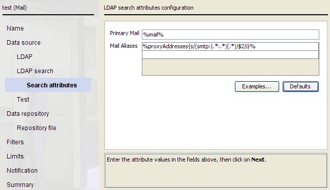 Defining Mail Attributes