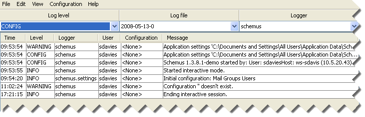 Directory Synchronization Client Log Files