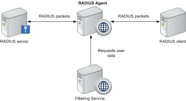The radius user identification process for Consul server vs agent