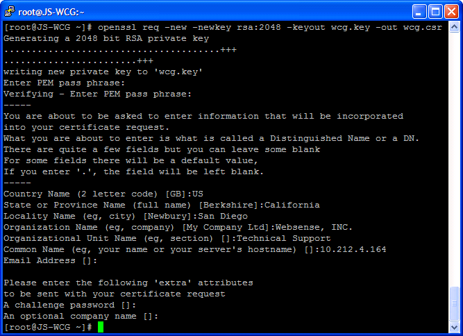 Creating a subordinate ca openssl req new newkey rsa2048 keyout wcgy out wcgr yadclub Gallery