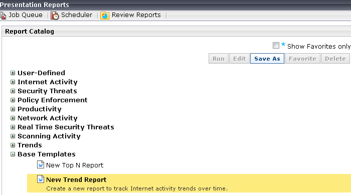 Example 2: A custom report based on a template
